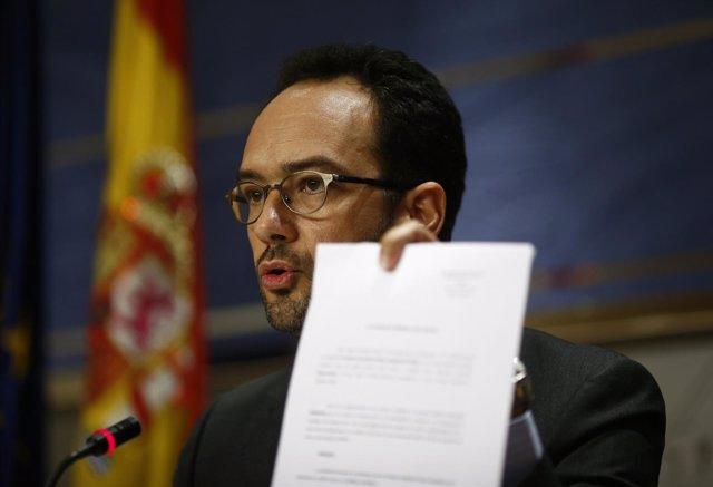 Antonio Hernando, del PSOE, en el Congreso