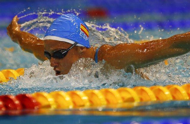 Mireia Belmonte logra la plata en los 400 estilos