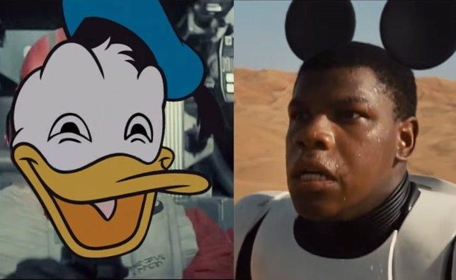 Parodia Disney de El despertar de la fuerza