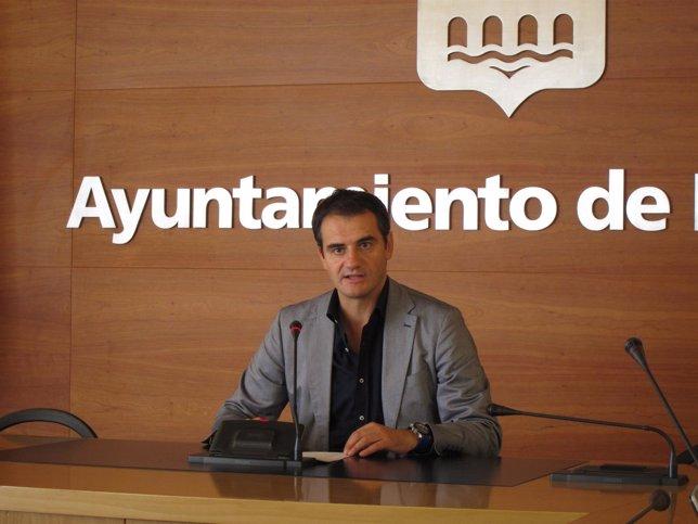 Miguel Sáinz, en la rueda de prensa de hoy.