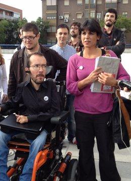 Pablo Echenique y Teresa Rodríguez, eurodiputados de Podemos