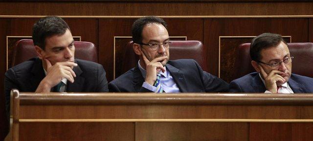 Pedro Sánchez y Hernando
