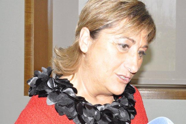 La presidenta de la DPT, Carmen Pobo.