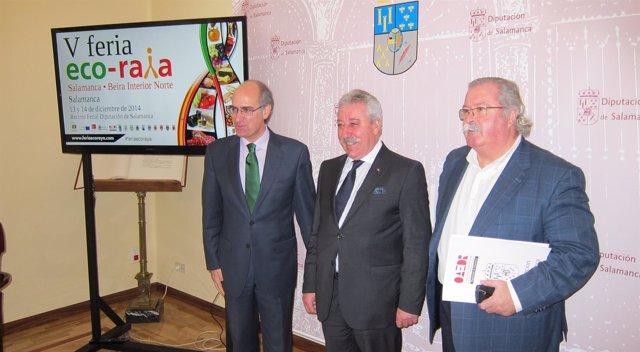 El presidente de la Diputación de Salamanca en la presentación de 'AgroRaya'
