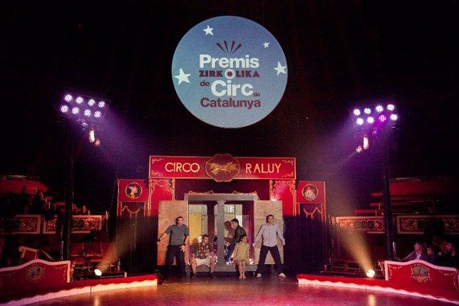 La carpa del Circ Raluy en 'La Nit del Circ', donde se entregarán los premios