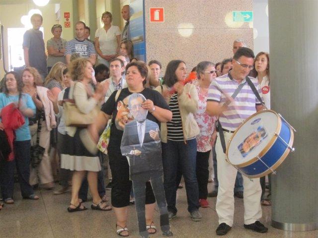 Protesta de los funcionarios en San Caetano
