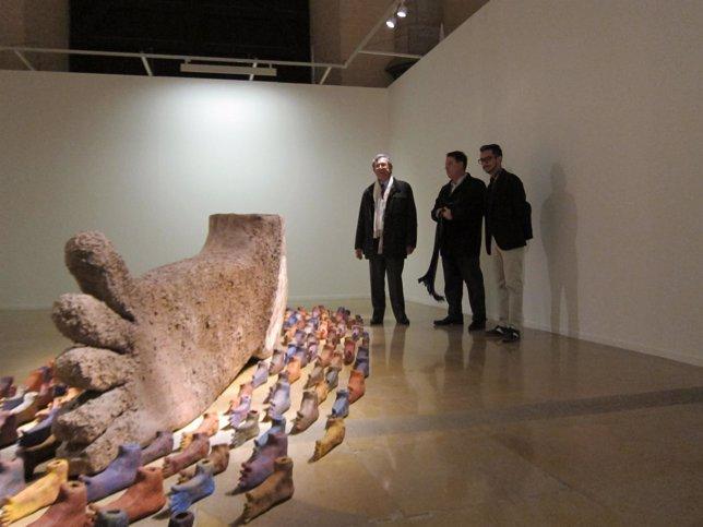 Obra Nómadas de Marta Palau en la Lonja de Zaragoza
