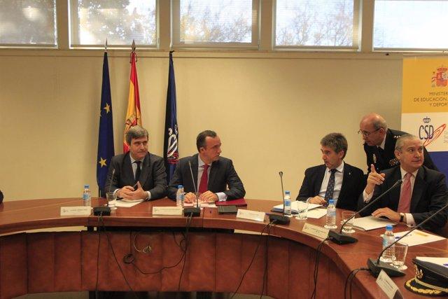 Miguel Cardenal, Francisco Martínez y Cosidó en el Consejo Superior de Deportes