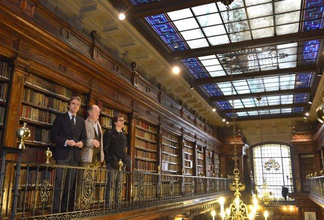 Inicio obras cubierta Biblioteca Menéndez Pelayo