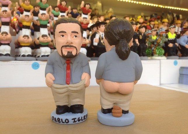 El caganer de Pablo Iglesias, dispuesto a arrasar en esta Navidad