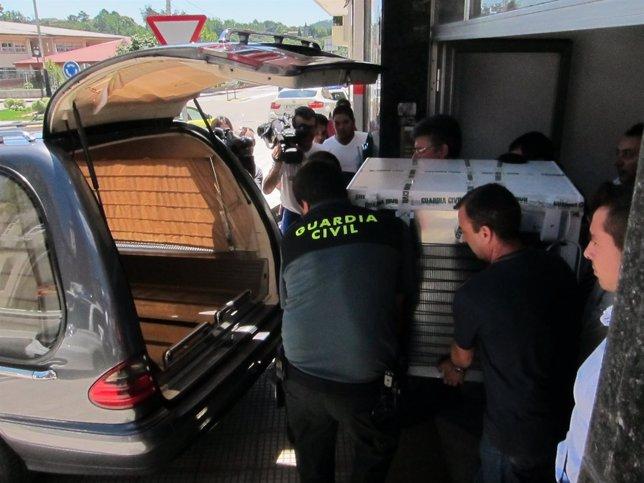 Restos humanos hallados en un arcón en Ponteareas