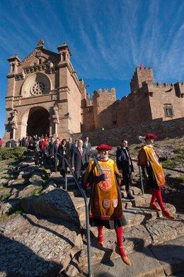 Acto religioso en Javier con motivo del Diá de Navarra.