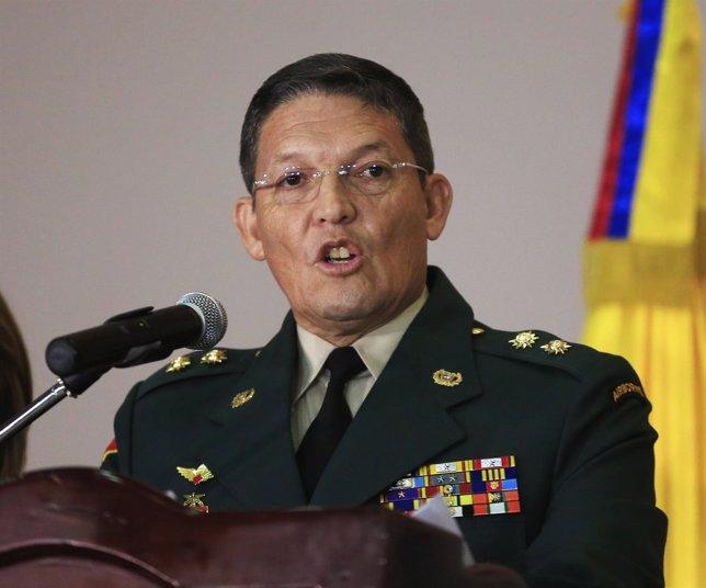 Ruben Darío Alzate en una conferencia tras su liberación.