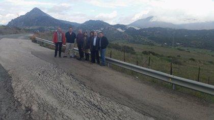 """El PP critica el """"lamentable estado"""" de la carretera A-377, que une Gaucín y Manilva"""