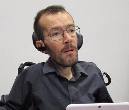 """Echenique anima a las personas con discapacidad a unirse a Podemos para dejar de ser """"ciudadanos de tercera"""""""