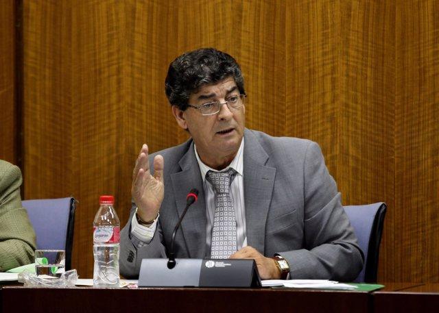 Diego Valderas, en comisión parlamentaria