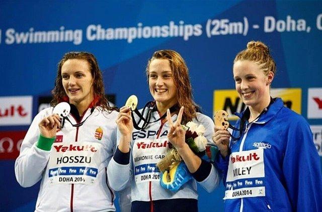 Mireia Belmonte en el Mundial de piscina corta de Doha
