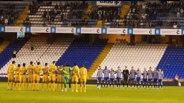 Riazor antes del partido con el Málaga