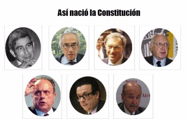 Los 7 padres de la Constitución Española de 1978