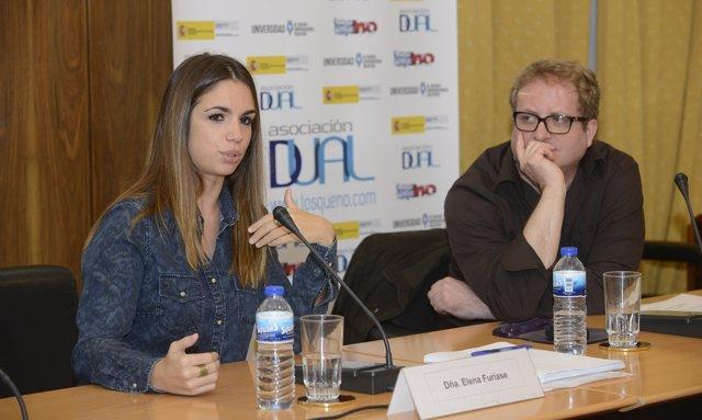 Elena Furiase y Rául Izquierdo en la presentación de la campaña Los Que No