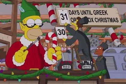 Los Simpsons lanzan su gag del sofá de Navidad en YouTube
