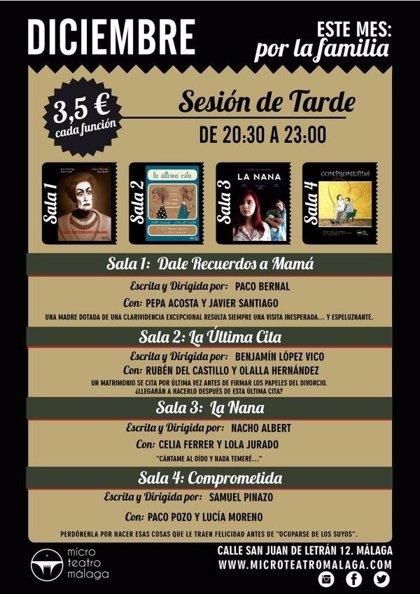La familia, protagonista de la programación de diciembre de Microteatro Málaga