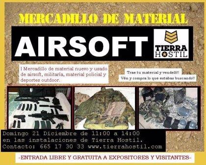 La empresa vallisoletana de ocio Tierra Hostil celebrará el día 21 el primer mercadillo de material de 'airsoft'