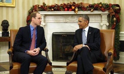 Obama recibe al príncipe Guillermo en la Casa Blanca