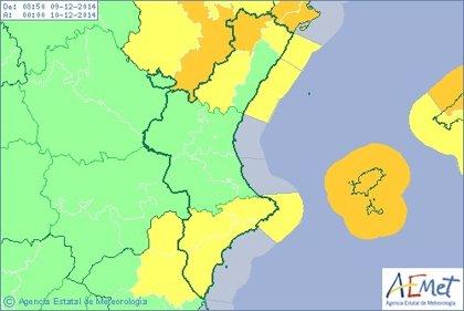 Castellón y Alicante están en alerta por temporal de mar y viento que puede alcanzar rachas de hasta 100 km/h