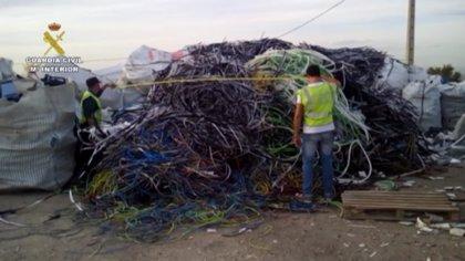 La Guardia Civil interviene 165 toneladas de cobre robado en sendas operaciones en Madrid y Valencia