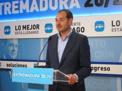 """El PP extremeño asegura que acudir al FLA """"no tiene nada que ver"""" con mantener la bajada de impuestos en la región"""