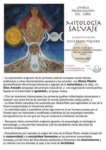 CANTABRIA.-Camargo.- La Vidriera acogerá la presentación del libro 'Mitología salvaje' de Guillermo Piquero