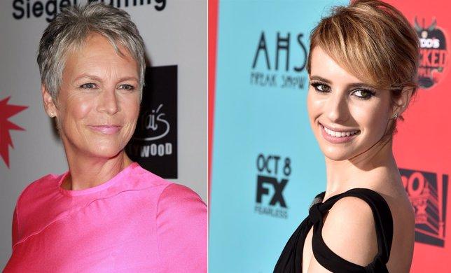 Jamie Lee Curtis y Emma Roberts protagonizan Scream Queen