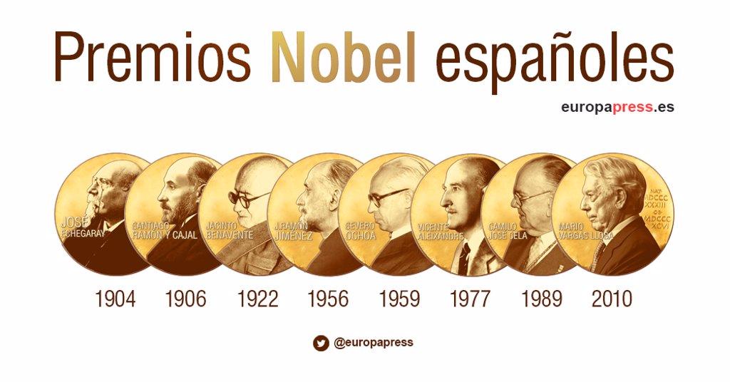 Estos Son Los Ocho Premios Nobel Españoles Seis De Literatura Y Dos De Medicina