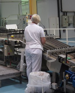 Trabajadora en fábrica
