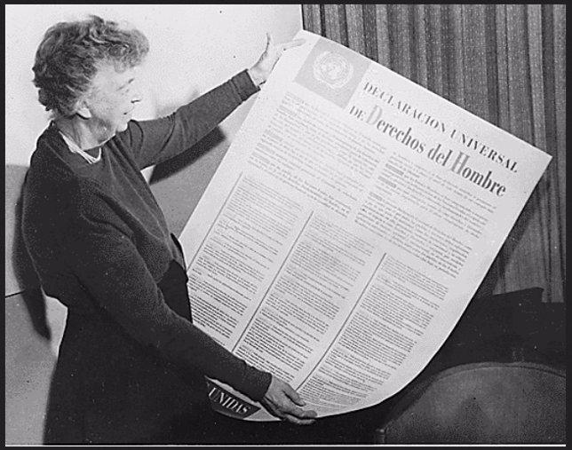 Eleanor Roosevelt, Derechos Humanos, Human Rights