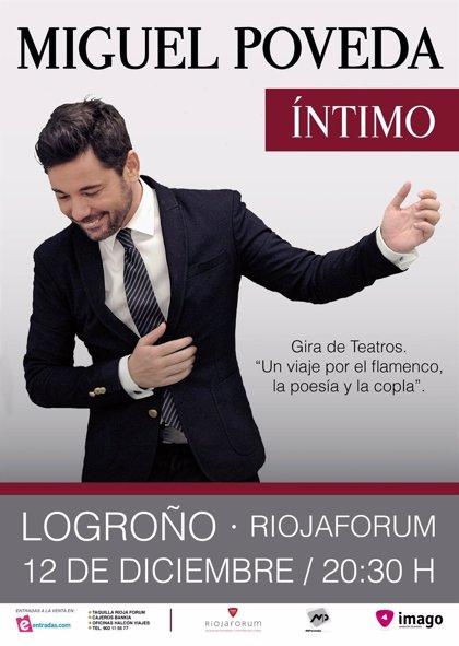 Miguel Poveda presenta  'Intimo' este viernes en Riojafórum