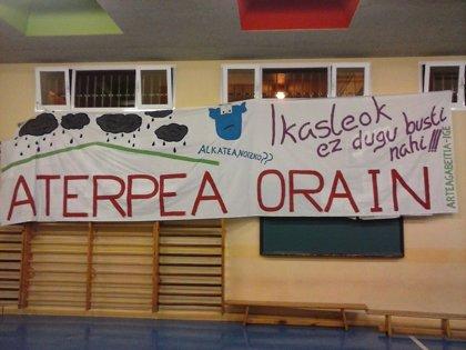 Colegio Arteagabeitia de Barakaldo organiza este jueves una tamborrada para pedir el cubrimiento del patio