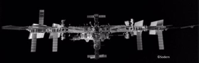 Estación Espacial en infrarrojos