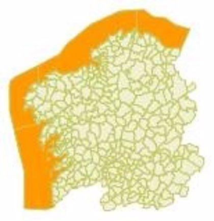 Temporal costero de nivel naranja en Galicia