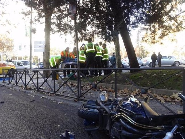 Accidente Castellana
