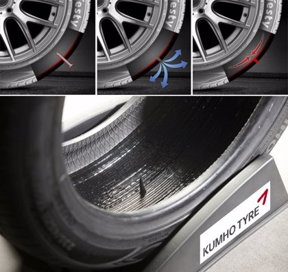 Kumho Tyre lanza un nuevo neumático autosellante