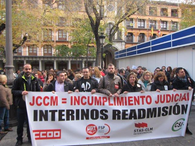 Manifestación interinos Zocodover