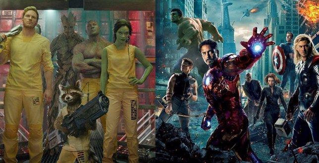 Guardianes de la galaxia y Los Vengadores