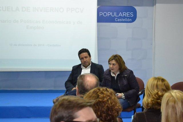 Bonig junto a Moliner en el acto del PP en Castellón