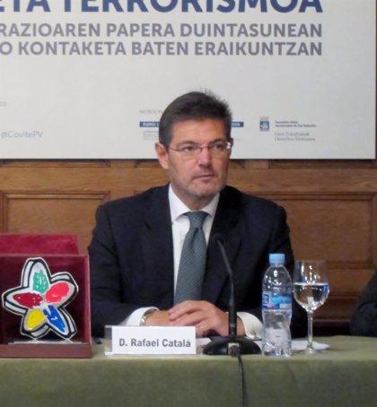 """Catalá cree que la ley de seguridad ciudadana hace """"un equilibrio constitucional y respetuoso con los derechos humanos"""""""