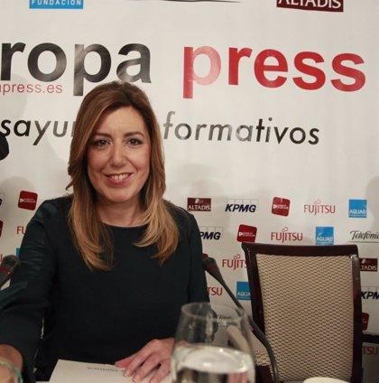 """Díaz pide a Rajoy """"sensibilidad"""" y rechaza decir que la crisis ha pasado """"mientras tengamos estas cifras de paro"""""""