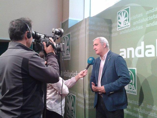 El secretario general del PA, Antonio Jesús Ruiz