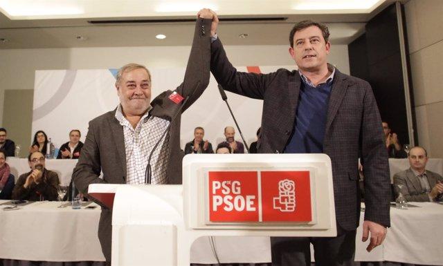 José Ramón Gómez Besteiro junto a Julio Sacristán este sábado