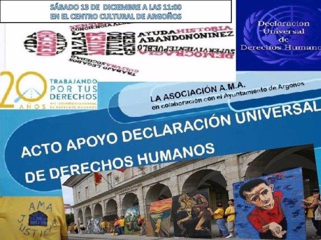 AMA organiza un acto de apoyo a la Declaración de los Derechos Humanos